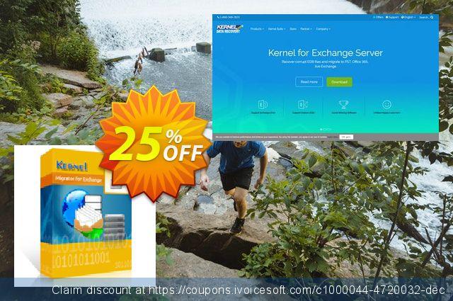 Kernel Migrator for Exchange ( 501 - 1000 Mailboxes ) 最佳的 产品销售 软件截图