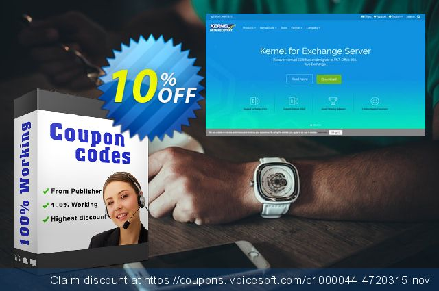 Kernel Migrator for Exchange ( 101 to 250 Mailboxes )  대단하   프로모션  스크린 샷