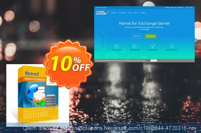 Kernel Migrator for Exchange ( 251 to 500 Mailboxes ) 气势磅礴的 交易 软件截图