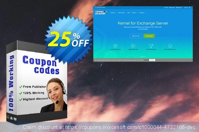 Kernel Migrator for Exchange ( 20 mailboxes ) 了不起的 产品销售 软件截图
