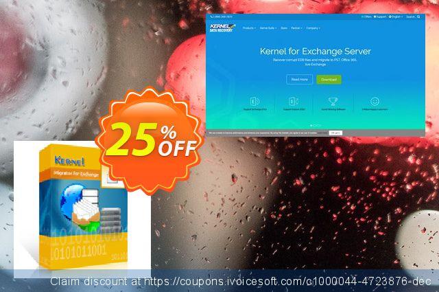 Kernel Migrator for Exchange: ( 1 - 100 Mailboxes ) 了不起的 销售 软件截图