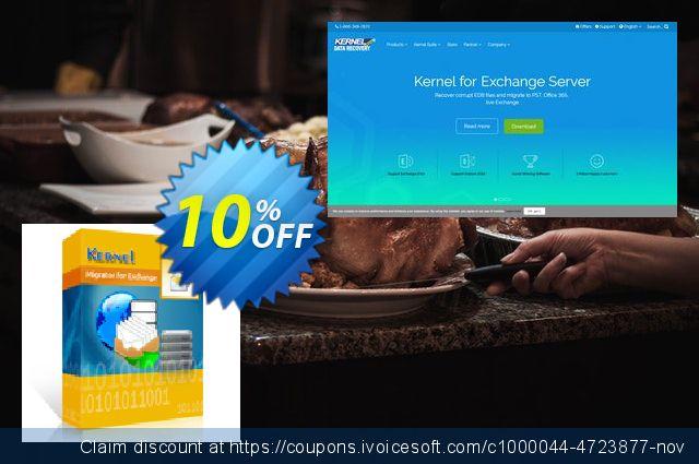 Kernel Migrator for Exchange: ( 101 - 200 Mailboxes ) 神奇的 交易 软件截图
