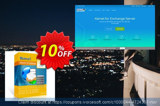 Kernel Migrator for Exchange discount 10% OFF, 2020 Happy New Year promo sales