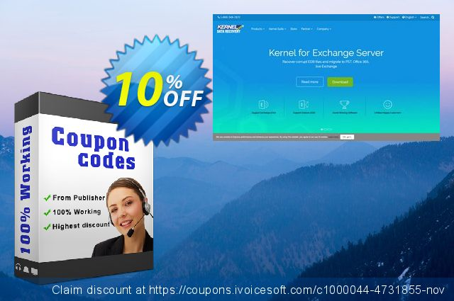 Kernel Migrator for Exchange ( 100 Mailboxes ) with 1  Year Support 优秀的 产品折扣 软件截图