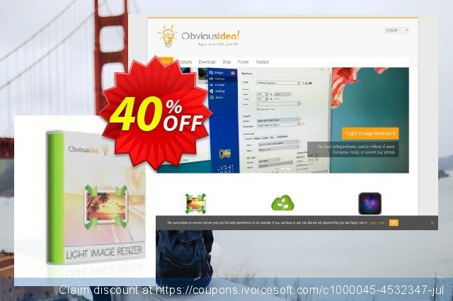 Light Image Resizer 5 discount 40% OFF, 2021 Labour Day promotions. Light Image Resizer Exclusive deals code 2021