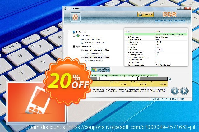 Data Recovery Software for Mobile Phone discount 20% OFF, 2019 Back to School season offering sales