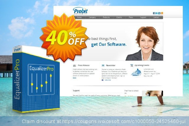 EqualizerPro - 1 Year License (5 PC) discount 40% OFF, 2020 Valentine's Day offering sales