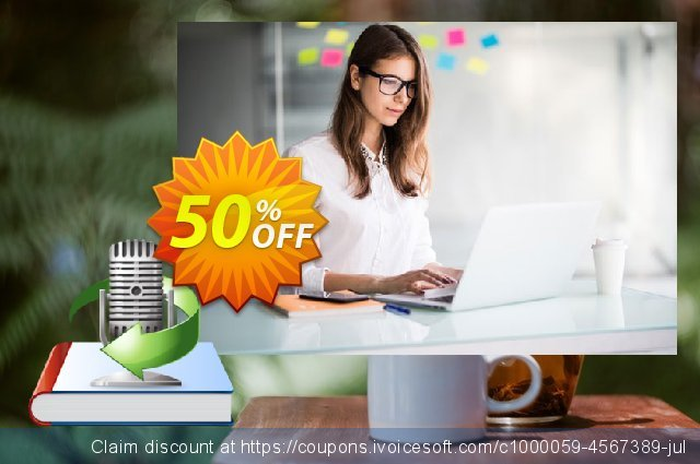 Ondesoft AudioBook Converter For Mac discount 50% OFF, 2020 July 4th promo