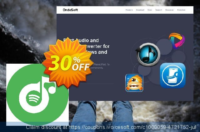 Ondesoft Spotify Music Converter for Mac discount 30% OFF, 2020 4th of July offering sales