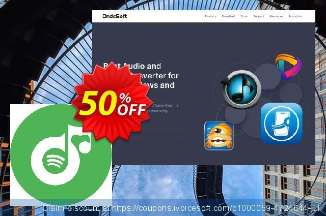Ondesoft Spotify Music Converter discount 50% OFF, 2020 July 4th sales