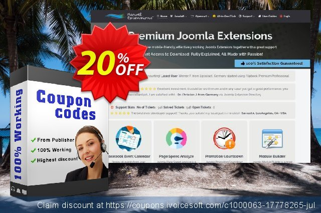 Marvel Extensions - Joomla + K2 Reaction Buttons Premium - Starter Package discount 10% OFF, 2020 Back to School shopping offering sales
