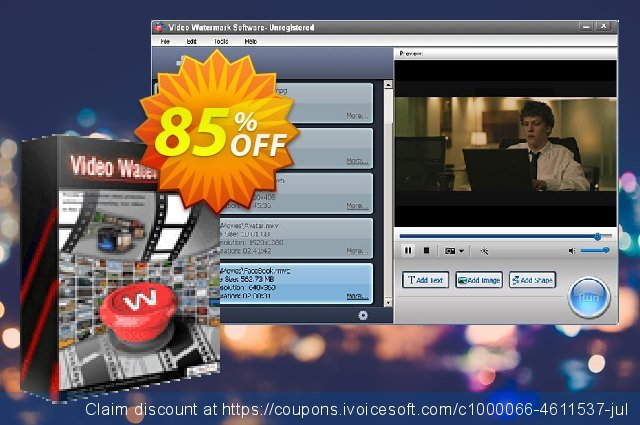 Video Watermark Pro (Discount) discount 30% OFF, 2020 Back to School coupons offering sales