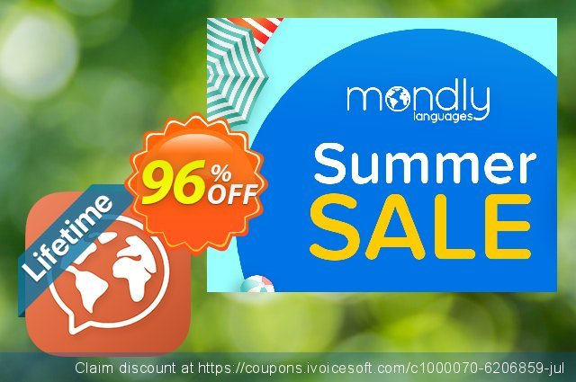 [20% OFF] Mondly Lifetime Membership - Learn 33 Languages Coupon code on  College Student deals deals, August 2019