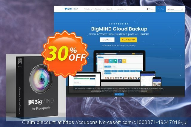 BigMIND Photographers 2TB discount 30% OFF, 2020 Back to School promo offering sales