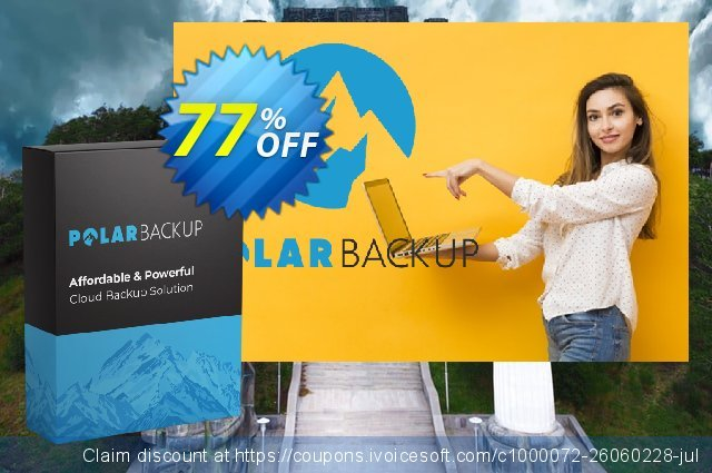 PolarBackup 2TB discount 30% OFF, 2021 American Heart Month offering discount