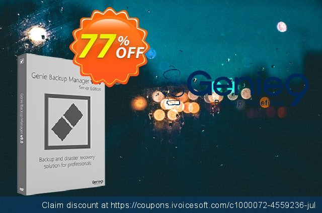 Genie Backup Manager Server Full 9 discount 60% OFF, 2020 University Student offer offering sales