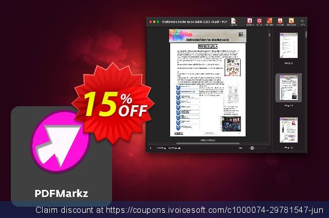 PDFMarkz for macOS Perpetual License discount 15% OFF, 2021 Coffee Ice Cream Day offering sales. 15% OFF PDFMarkz Perpetual macOS, verified