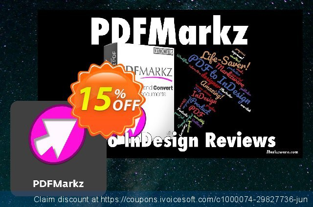 PDFMarkz for macOS discount 15% OFF, 2021 All Hallows' evening offering deals. 15% OFF PDFMarkz (1 Year Subscription) macOS, verified