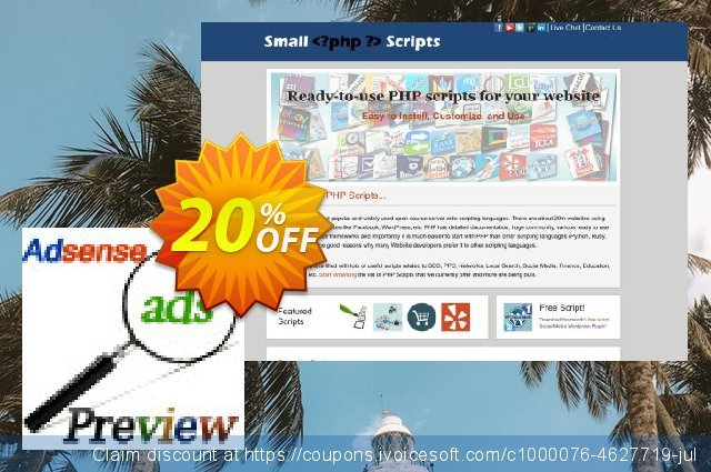 Adsense Ads Preview Script discount 10% OFF, 2020 Happy New Year offering sales