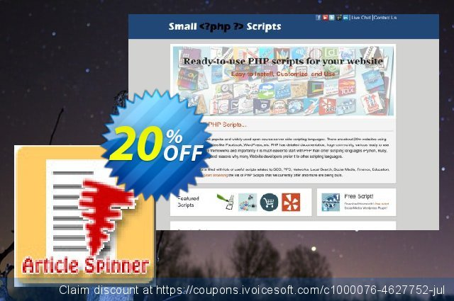Article Spinner Script discount 10% OFF, 2020 Back to School deals discounts