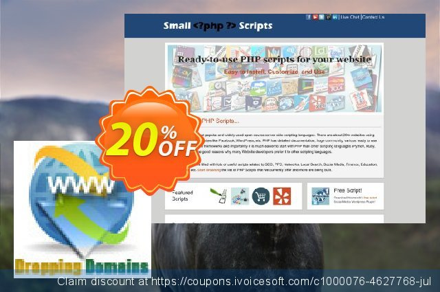 Dropping Domains Finder Script discount 10% OFF, 2020 Back to School Promos offering sales