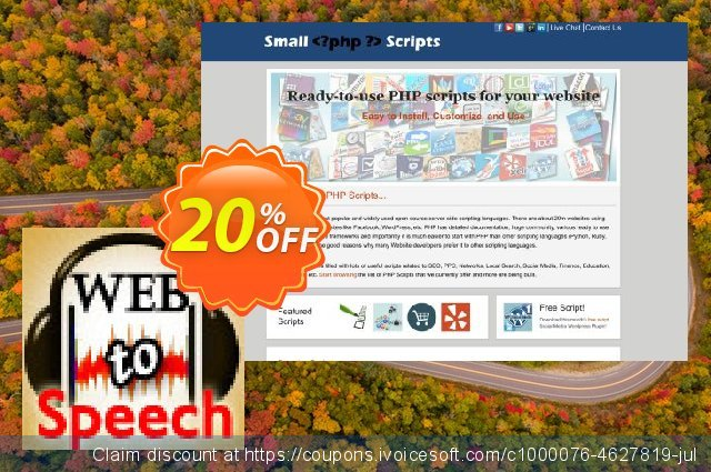 Text To Voice Script discount 10% OFF, 2020 Spring offering discount
