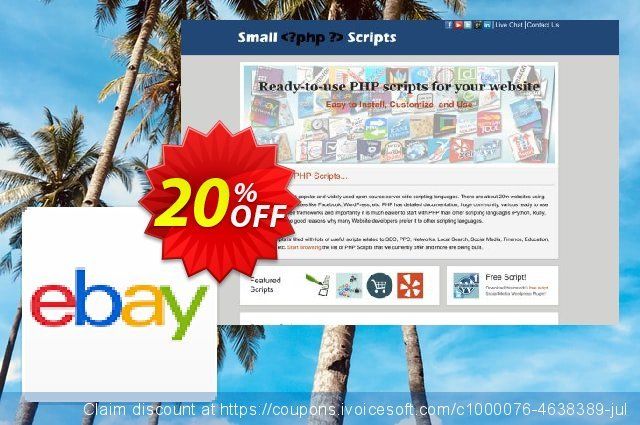 Ebay Affiliate Search Script discount 10% OFF, 2020 Easter day offering sales