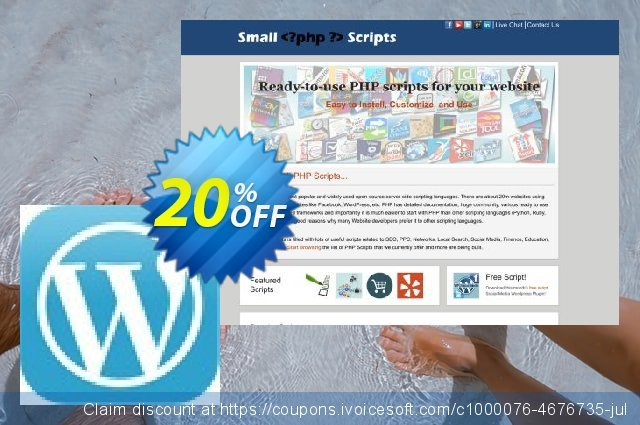 Wordpress Theme Detection Script 惊人的 优惠券 软件截图