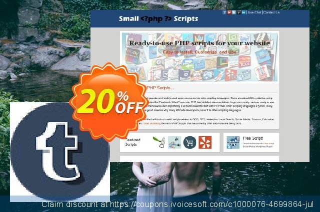 Tumblr Auto Multi Image Post Maker Script独占优惠券 软件截图