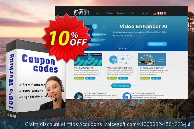 Any Video Converter Pro discount 10% OFF, 2021 January sales