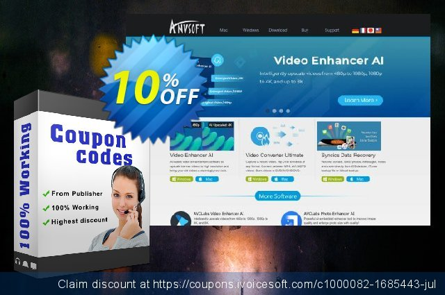 Any Video Converter for Mac discount 10% OFF, 2021 New Year discounts