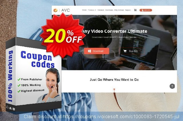 Any Video Converter for MAC discount 20% OFF, 2020 Back-to-School promotions offering sales
