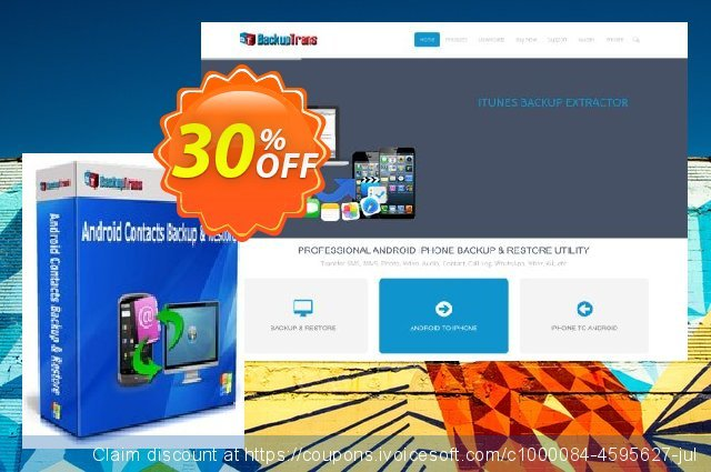 Backuptrans Android Contacts Backup & Restore (Business Edition) discount 30% OFF, 2020 Halloween offering sales