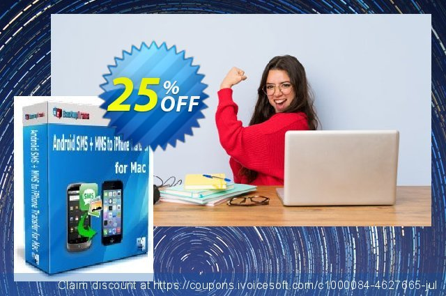 Backuptrans Android SMS + MMS to iPhone Transfer for Mac 特殊 产品销售 软件截图