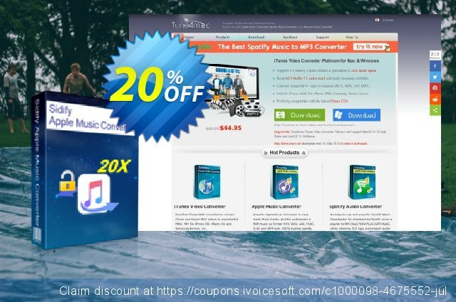 [20% OFF] Sidify Apple Music Converter for Mac Coupon code on 4th of July  sales, August 2019
