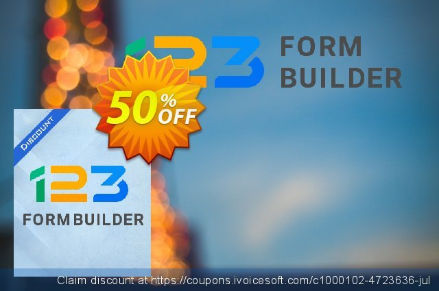 123FormBuilder Gold  - Yearly discount 35% OFF, 2019 Student deals promotions