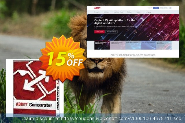 [15% OFF] ABBYY Comparator Coupon code on Teacher deals offering sales,  August 2019