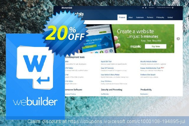 WeBuilder 2018 Personal discount 20% OFF, 2020 American Independence Day offering sales