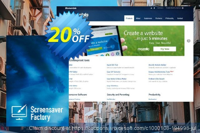 Screensaver Factory 7 Professional discount 20% OFF, 2019 Back to School shopping offering deals