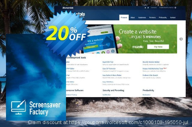Screensaver Factory 7 Enterprise discount 20% OFF, 2020 American Independence Day promotions