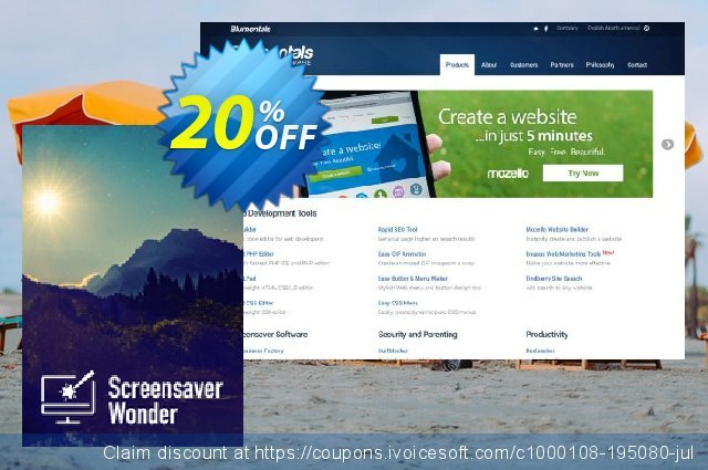 Screensaver Wonder 7 discount 20% OFF, 2020 American Independence Day offering sales