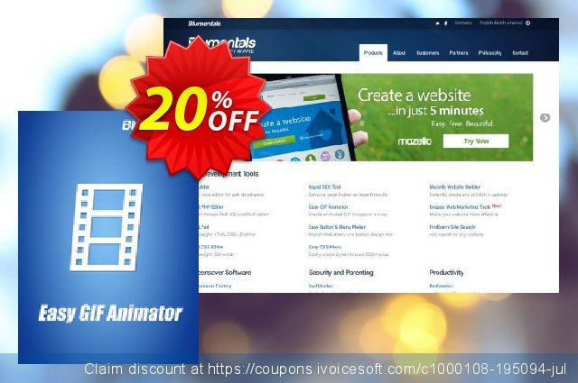 Easy GIF Animator 7 Pro discount 20% OFF, 2019 College Student deals promo sales