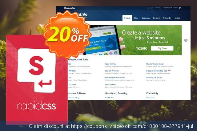 Rapid CSS 2018 Personal discount 20% OFF, 2019 Back to School season offering deals
