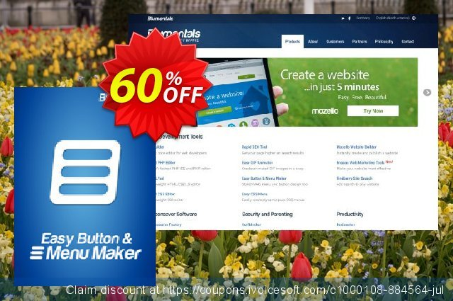 Easy Button & Menu Maker 5 Personal discount 20% OFF, 2019 New Year's Day promo
