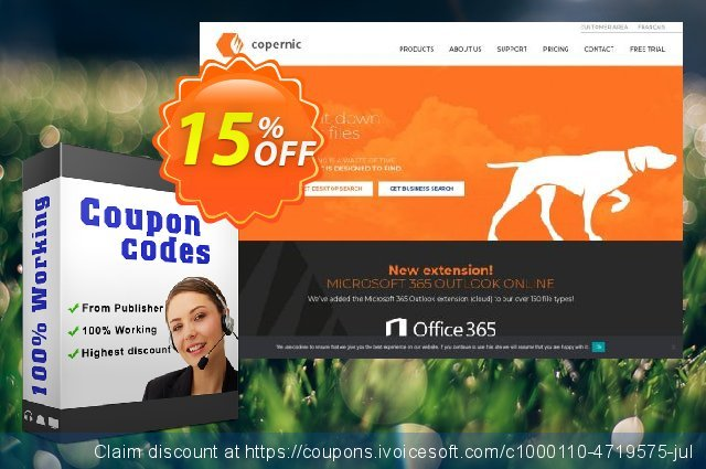 Copernic Microsoft Outlook Extension discount 15% OFF, 2020 American Independence Day offering sales