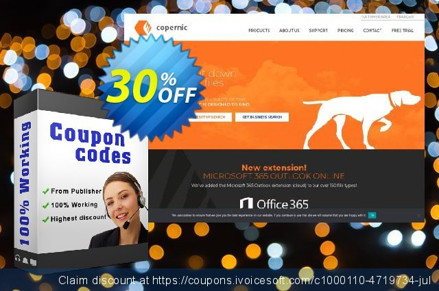 Copernic Cloud Services Bundle discount 30% OFF, 2020 July 4th offering sales