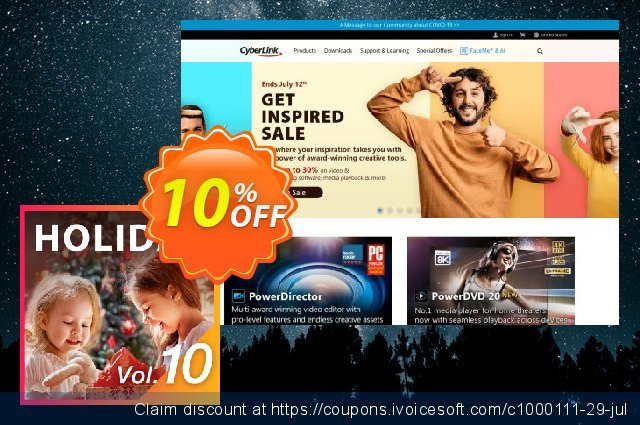 Holiday Pack Vol.10 for PowerDirector discount 10% OFF, 2020 July 4th discounts