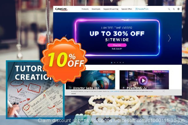 Cyberlink Tutorial Creation Pack discount 10% OFF, 2020 Back to School deals deals