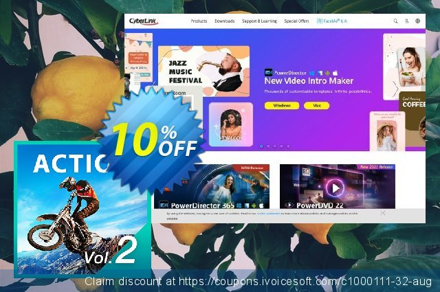 Cyberlink Action Pack 2 discount 10% OFF, 2020 Back to School offer discount