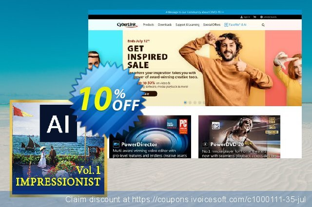 Impressionist AI Style Pack Vol. 1 for PowerDirector discount 10% OFF, 2020 Exclusive Student deals offering deals